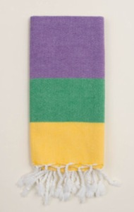 loomed mardi gras towel
