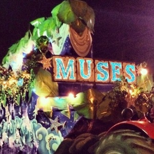 Krewe of Muses Parade is the Thursday before Mardi Gras.